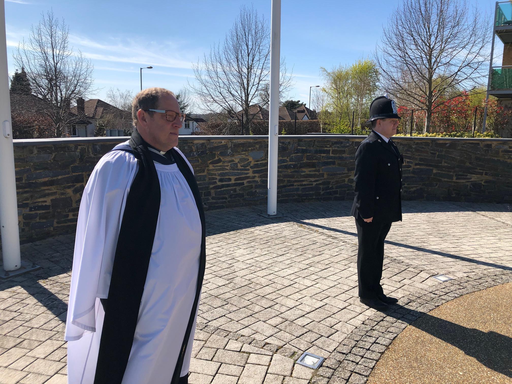 National Chaplain Observes 1 Minute Silence