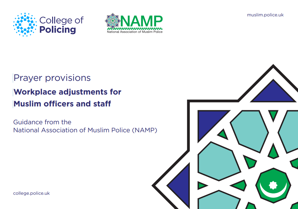 Prayer provisions - Workplace adjustments for Muslim officers and staff